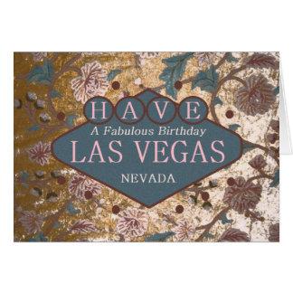 TENGA una tarjeta fabulosa de Las Vegas del cumple