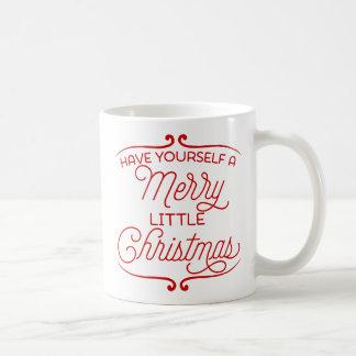 Tenga usted mismo los Felices pequeños Navidad Taza De Café