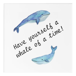 """""""Tenga usted mismo una ballena arte de la pared de"""