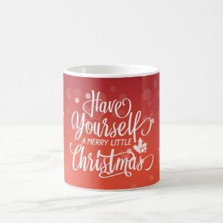 Tenga usted mismo una feliz pequeña taza de la