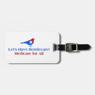 Tengamos Berniecare - Seguro de enfermedad para Etiqueta Para Maletas