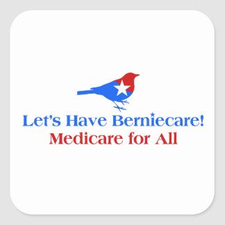 Tengamos Berniecare - Seguro de enfermedad para Pegatina Cuadrada