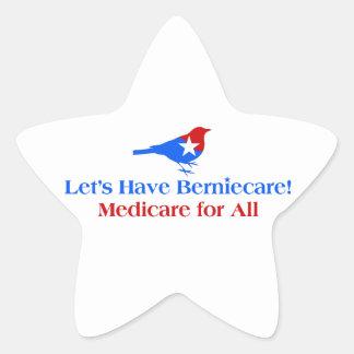 Tengamos Berniecare - Seguro de enfermedad para Pegatina En Forma De Estrella