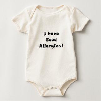 Tengo alergias alimentarias body para bebé