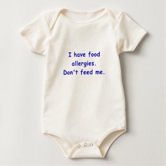 Tengo alergias alimentarias no me alimento body para bebé