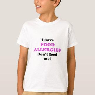 Tengo alergias alimentarias no me alimento camiseta