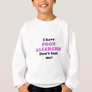 Tengo alergias alimentarias no me alimento sudadera