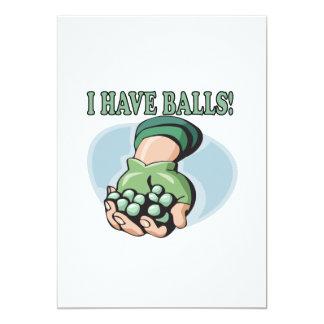Tengo bolas 2 invitación 12,7 x 17,8 cm
