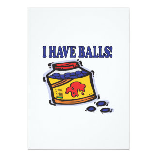 Tengo bolas invitación 12,7 x 17,8 cm