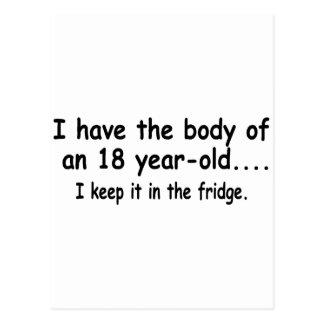 Tengo el cuerpo de 18 años que lo mantengo tarjeta postal