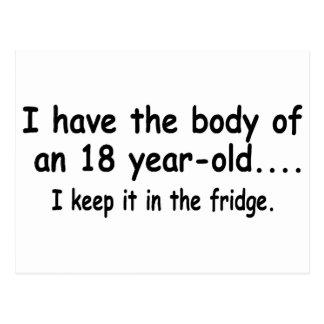 Tengo el cuerpo de 18 años que lo mantengo postal
