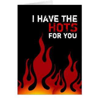 Tengo el Hots para usted tarjeta del el día de San