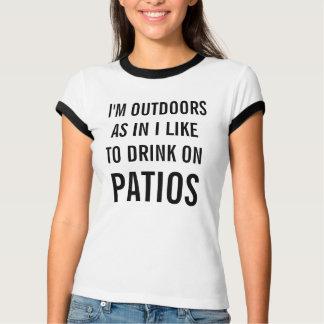 Tengo gusto de beber en la camiseta del campanero