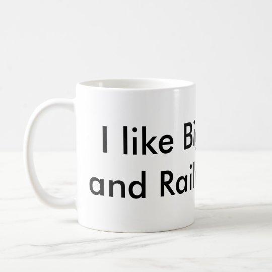 Tengo gusto de Chugs y de lazos de ferrocarril Taza De Café