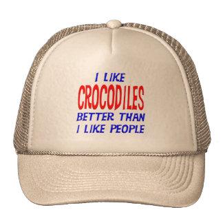 Tengo gusto de cocodrilos mejores que tengo gusto gorro de camionero