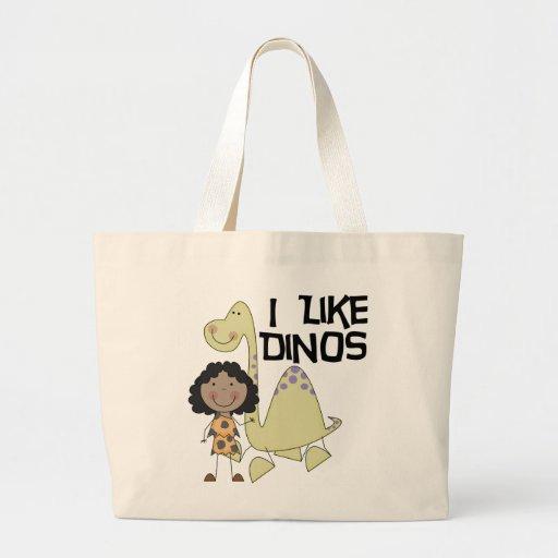 Tengo gusto de Dinos - chica afroamericano Bolsas De Mano
