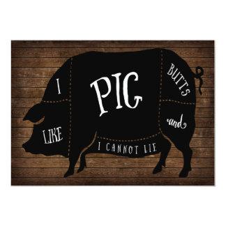 Tengo gusto de extremos del cerdo y no puedo invitación 12,7 x 17,8 cm