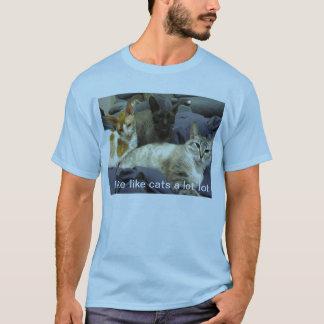 Tengo gusto de gatos camiseta