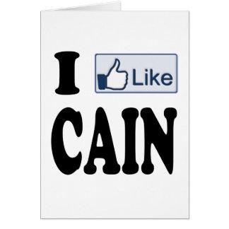 Tengo gusto de Herman Caín para el presidente 2012 Tarjeta De Felicitación