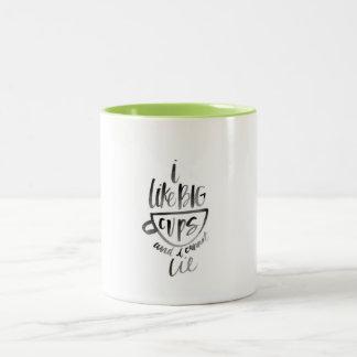 Tengo gusto de la taza grande de las tazas