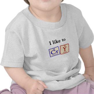 Tengo gusto de llorar - camiseta del bebé del frik