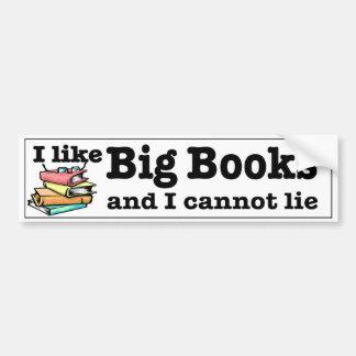 Tengo gusto de los libros grandes y no puedo pegatina para coche