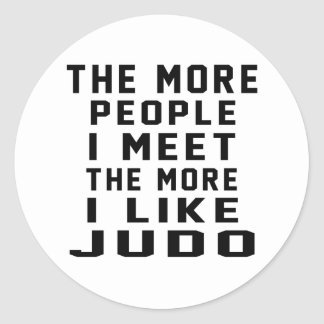 Tengo gusto de más judo etiquetas redondas