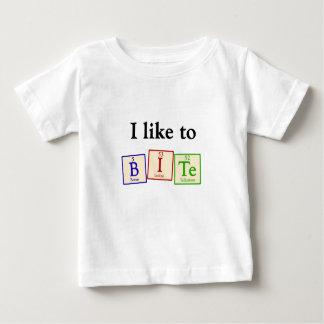 Tengo gusto de morder - la camiseta del bebé del
