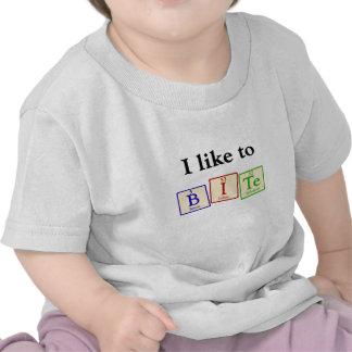 Tengo gusto de morder - la camiseta del bebé del f