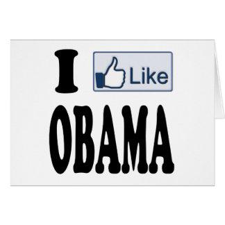 Tengo gusto de Obama para el presidente 2012 Tarjeta De Felicitación