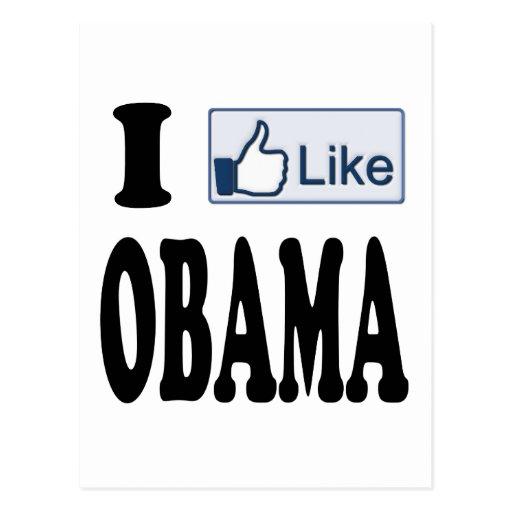 Tengo gusto de Obama para el presidente 2012 Tarjetas Postales