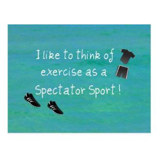 ¡Tengo gusto de pensar en ejercicio como deporte e Tarjeta Postal