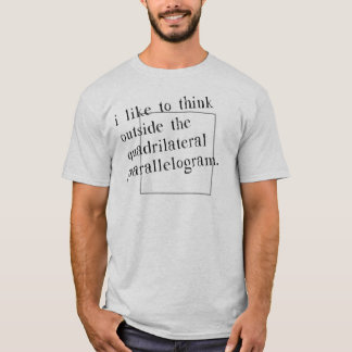 Tengo gusto de pensar fuera de la caja camiseta