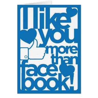 Tengo gusto de usted más que la tarjeta de Faceboo