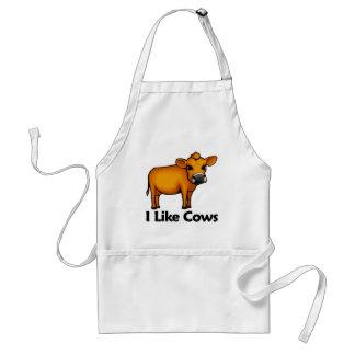 Tengo gusto de vacas delantal