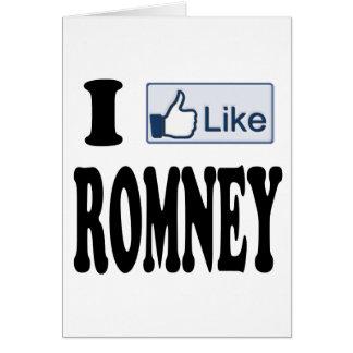 Tengo gusto del presidente 2012 de Mitt Romney Tarjeta De Felicitación