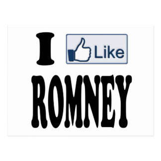 Tengo gusto del presidente 2012 de Mitt Romney Postal