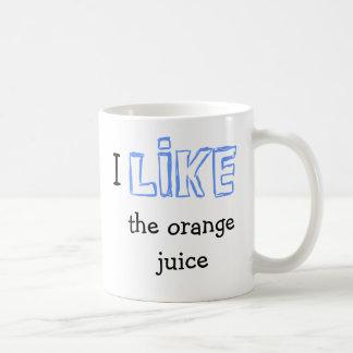 Tengo gusto del zumo de naranja taza de café