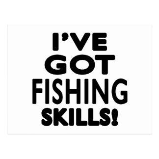 Tengo habilidades de la pesca postal