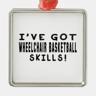 Tengo habilidades del baloncesto de silla de rueda ornamento de reyes magos