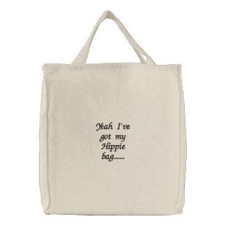 Tengo sí mi bolso del Hippie ....... Bolsa De Tela Bordada