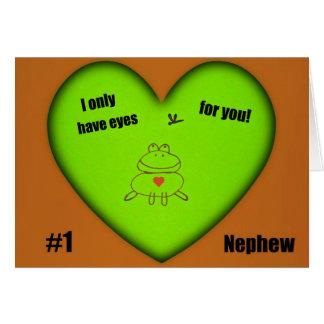 ¡Tengo solamente ojos para usted!  Sobrino #1 Tarjeta De Felicitación