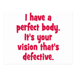 Tengo un cuerpo perfecto postal
