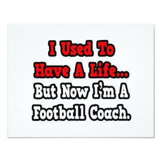 Tenía un entrenador de fútbol de la vida… invitación 10,8 x 13,9 cm