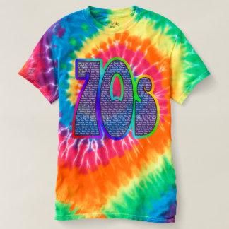 ¡teñido anudado del eslogan 70s! Camisa
