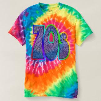 ¡teñido anudado del eslogan 70s! camisas