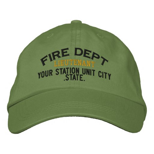 Teniente Firefighter Hat de Personalizable Gorra De Béisbol