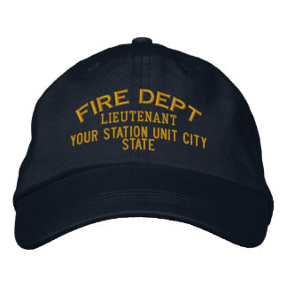 Teniente Firefighter Hat de Personalizable Gorras De Béisbol Bordadas