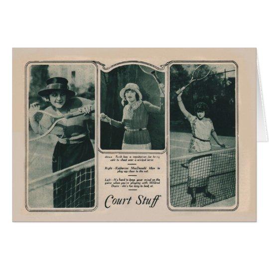 Tenis 1922 de la tarjeta del retrato del vintage