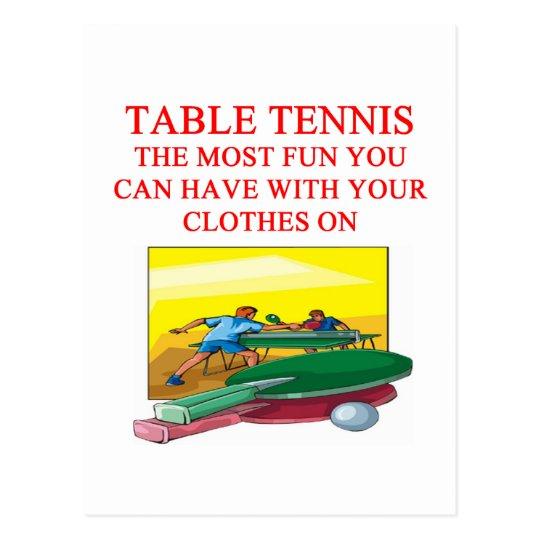 tenis de mesa postal